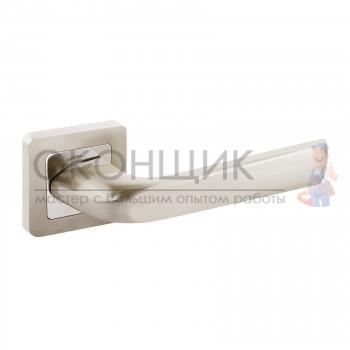 Ручка АЛЛЮР на квадратной розетке АРТ ОДРИ SN (никель)