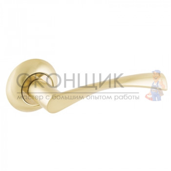Ручка АЛЛЮР на круглой розетке АРТ ОСКАР SB (матовое золото)
