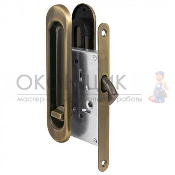 Ручка с замком для раздвижных дверей PUNTO Soft LINE SL-011 AB