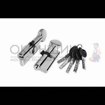"Цилиндровый механизм PALIDORE 70 (30С/40) PB ""Хром"" ключ-вертушка"