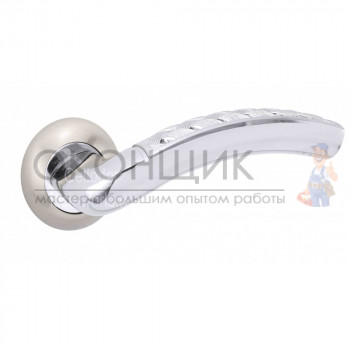 Ручка PUNTO на круглой розетке ATLAS TL SN/CP