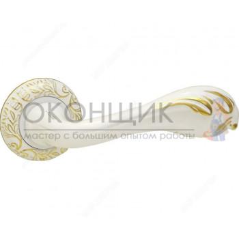 Ручка FERETTA на круглой розетке F 718 WGP