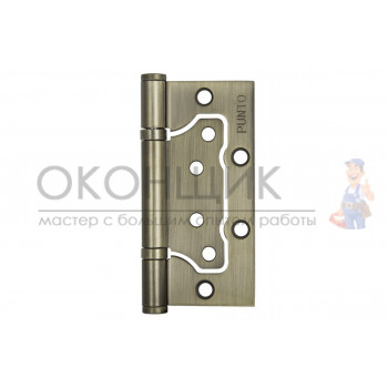"""Универсальная дверная петля без врезки (бабочка) PUNTO 100*2.5 WAB 200-2B """"Матовая бронза"""""""