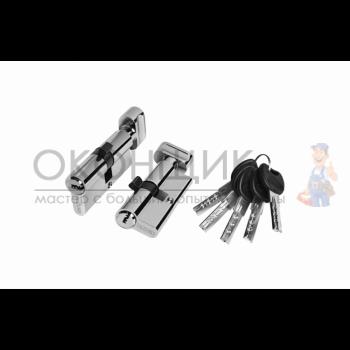 "Цилиндровый механизм PALIDORE 110 (55/55) PC ""Хром"" ключ-вертушка"