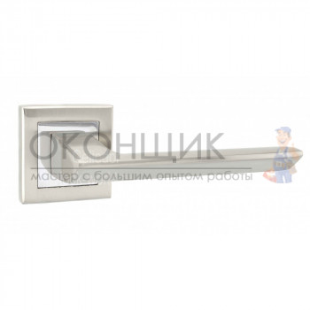 Ручка PUNTO на квадратной розетке BLADE QL SN/CP