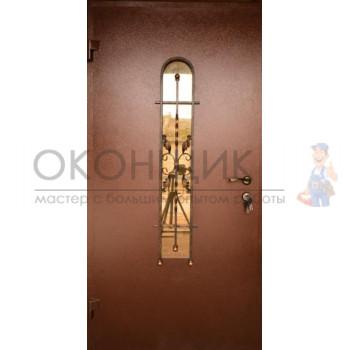 """Входная дверь GRAND """"Классик со стеклопакетом"""" (1 замок)"""