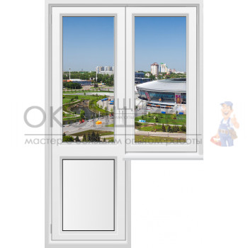 Балконный блок с узким глухим окном PLAFEN T-LINE® (ROTO)