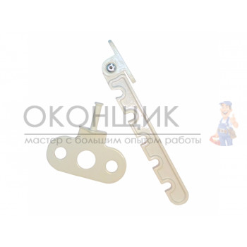 Ограничитель открывания окна AXOR белый металлический (гребенка)