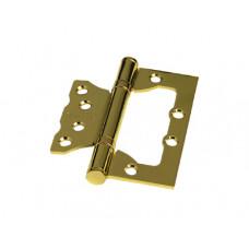 """Универсальная дверная петля без врезки (бабочка) ARSENAL 100*75*2.5 2BB PB """"Золото"""""""
