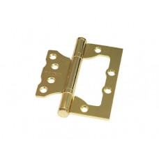 """Универсальная дверная петля без врезки (бабочка) ARSENAL 100*75*2.5 2BB SB """"Матовое золото"""""""