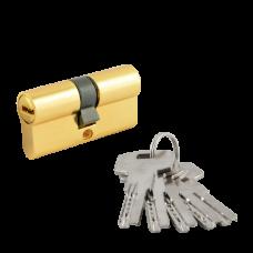 """Цилиндровый механизм НОРА-М ECO ЛП 60 (30/30) PB """"Латунь"""" ключ-ключ"""