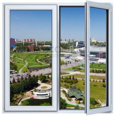 Двухстворчатое окно с одним открыванием PLAFEN C-LINE® (AXOR)