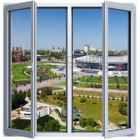 Двухстворчатое окно с двойным открыванием PLAFEN C-LINE® (ROTO)