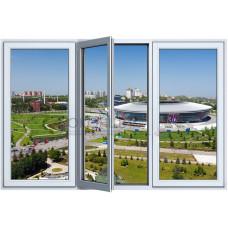 Трехстворчатое окно с одним открыванием PLAFEN C-LINE® (AXOR)