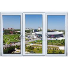 Трехстворчатое окно с двойным открыванием 2-камеры DECEUNINCK ECO 60® (AXOR)