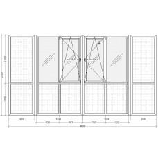 Балкон с двойным открыванием PLAFEN C-line® (AXOR)