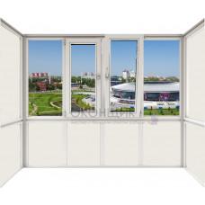 Балкон расширенный с двойным открыванием DECEUNINCK ECO 60® (AXOR)