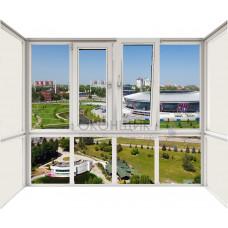 Балкон со стеклянным фасадом с двойным открыванием ALUPLAST IDEAL® 2000 (AXOR)