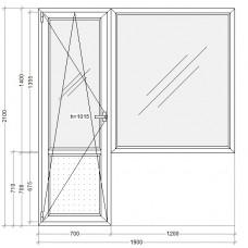 Балконный блок с глухим окном PLAFEN C-line® (AXOR)