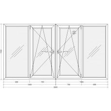 Лоджия с двойным открыванием PLAFEN C-line® (AXOR)