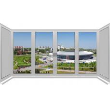 Лоджия П-образная с двойным открыванием 2-камеры ALUPLAST IDEAL® 4000 (AXOR)