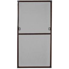 Москитная сетка дверная коричневая с горизонтальным импостом размер 620x2020 мм.