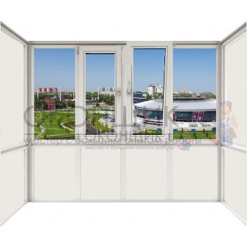 Балкон с двойным открыванием DECEUNINCK ECO 60® (AXOR)