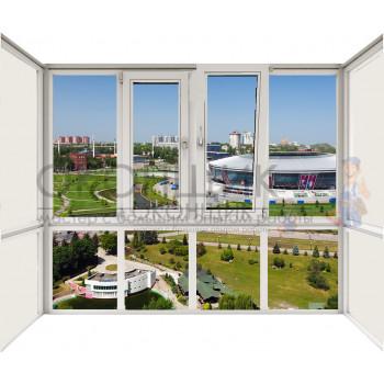Балкон со стеклянным фасадом с двойным открыванием DECEUNINCK ECO 60® (AXOR)