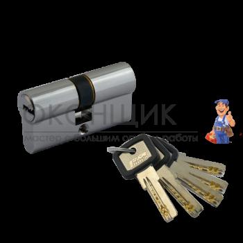 "Цилиндровый механизм НОРА-М ЛПУ 90 (45/45) PC ""Хром"" ключ-ключ"