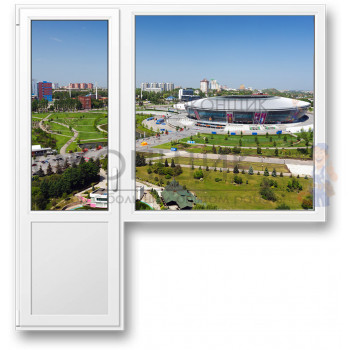 Балконный блок с глухим окном ALUPLAST IDEAL® 2000 (AXOR)